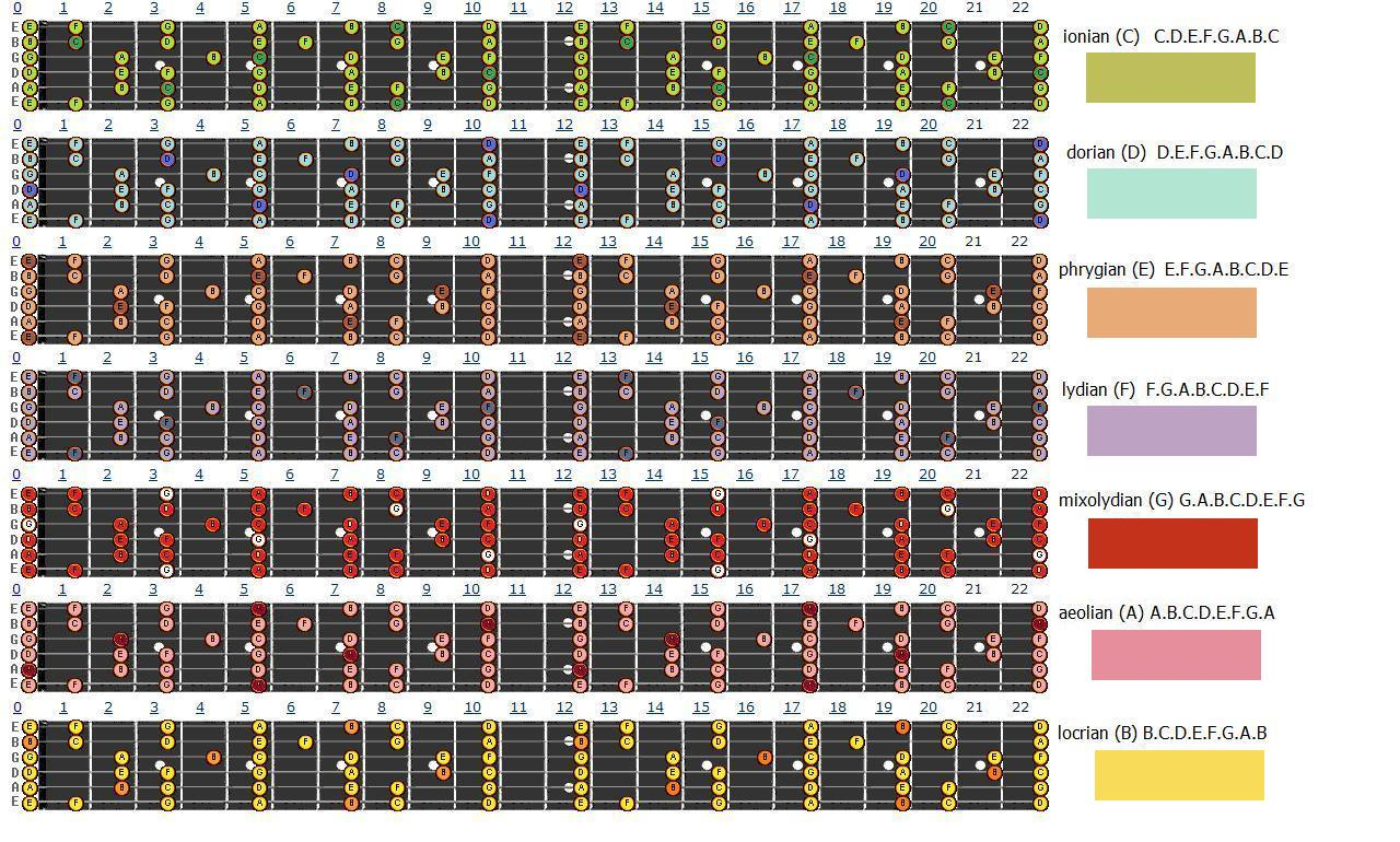 Amazoncom Left Handed Guitar Fretboard and Chord Chart