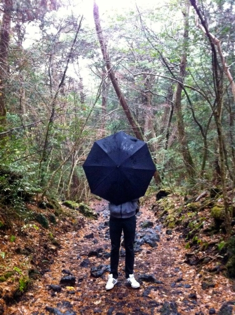 Aokigahara Black Umbrella